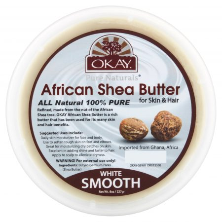 okay African SHEA BUTTER100% pure for Skin and Hair